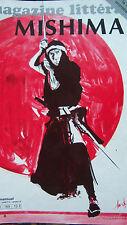 MAGAZINE LITTERAIRE 1981 No 169 YUKIO MISHIMA JAPON SAMOURAI YOURCENAR
