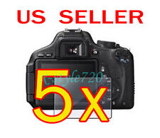 5x Canon EOS 600D Rebel T3i Camera LCD Screen Protector Guard Shield Film