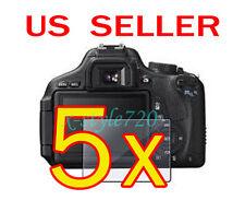 5x Canon EOS 600D Rebel T3i Camera LCD Screen Protector Guard Shield Film