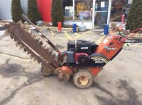 Ditch Witch Trencher 2007 Commercial Vanguard Engine Walk Behind Used