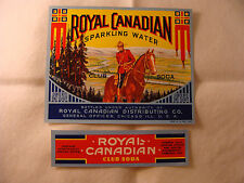 Royal Canadian Club Soda bottle and neck label set