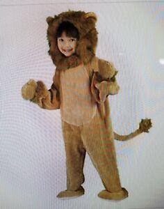 Cuddly Lion Toddler kids Costume Size 3T/4T**Detachable Hood**Attached Paws**EUC