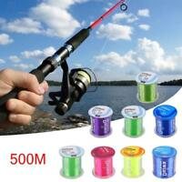 500M Super Strong Nylon Fishing Lines Durable Monofilament Lake Sea Fish Tackles