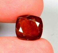 5.1Ct Ring Size Natural Red Hessonite Garnet Cushion Cut Cabochon Gemstone A438