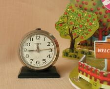 ROCKET Vintage Russian ALARM CLOCK Mechanical Desk Clock Soviet USSR RAKETA