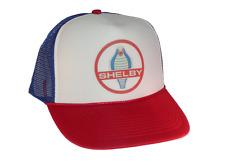 Shelby Cobra hat Trucker hat mesh hat adjustable red white blue