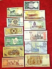 Unc Lot of 12 Different Foreign Paper Money Banknotes World Currency