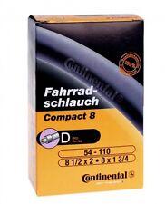 "Continental Compact 8"" Zoll Schlauch, Fahrrad Kinderrad, Blitz-/Dunlopventil DV"