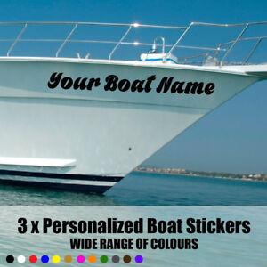 "3 x SSR /  Boat Name Stickers Decal Graphics. Hi Quality 24""x6""  600x150mm Vinyl"