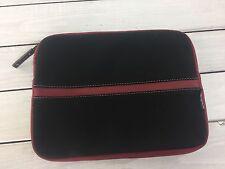 "Neoprene Sleeve iPad Case for 9.7"" 9x11"" Targus Zip Around Black Garnet Red"