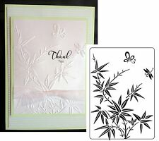 Bamboo Butterfly Embossing Folder Crafts Too CTFD3109 embossing folder flowers