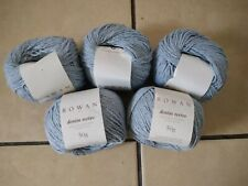 250g ROWAN DENIM REVIVE  WOOL YARN - 211 BLUE WASH stonewash light blue DK