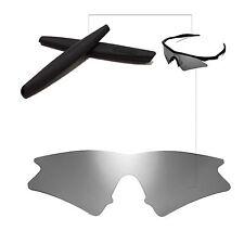 Walleva Titanium Replacement Lenses + Black Earsocks For Oakley M Frame Sweep