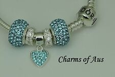 GENUINE Pandora bracelet all sizes + 5 stunning charms. Mothers Day Special