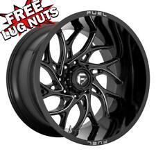 26 inch 26x14 Fuel D741 RUNNER BLACK MILLED wheels rims 8x6.5 8x165.1 -75