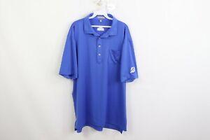 Peter Millar Mens XL Summer Comfort Short Sleeve Golf Polo Shirt Pocket Blue