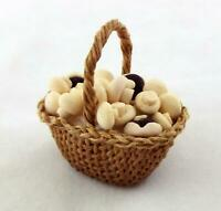 Dolls House Hand Made Basket of Mushrooms Miniature Country Kitchen