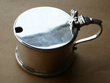 Vintage Solid Silver Drum Mustard Pot London 1931 141g Edward Barnard & Sons