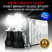 55W H4 9003 Bi-Xenon Dual Beam HiLo Fast Bright AC HID Xenon Conversion kit
