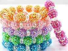 6pcs/lot 10mm men mixed ab women resin Beads Crystal Shamballa Bracelet bangle