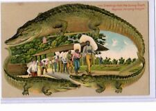 Black Americana Postcard - Langsdorf Alligator Border Negroes Carrying Freight