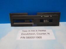 Teac X-700R X-700Rbl Counter, Escutcheon Used