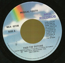 MUSICAL YOUTH 45 TOURS CANADA PASS THE DUTCHIE