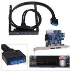 2 Port USB 3.0 PCI Express Card+3.5 Motherboard Floppy Disk Bay Front Panel R1BO