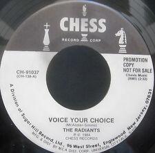 """The Radiants - VOICE YOUR CHOICE - The Ravens - DEAR 1  Vinyl 7"""" Single  [1984]"""