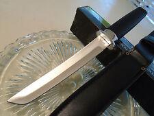 """Tanto Warrior Silver Dagger Combat Hunter Knife Full Tang 440 622 12 1/2"""" OA New"""