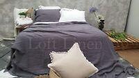 100% Linen French Bed Linen Quilt Cover Linen Duvet linen Sheet Set-Slate Grey