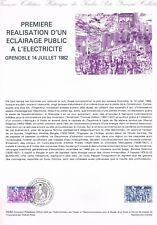 Document Officiel   1982 29   Premiere Realisation Eclairage Publique Grenoble