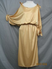 Vintage i980s Club Cocktail Evening Dress Gold Climax by David Howard