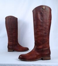 NEW!! Frye Knee High Button Boot- Distressed Cognac- Size 6.5 B  (B37)