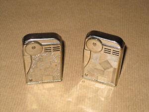 Art Deco / Bauhaus 30er Jahre seltene Benzin Feuerzeuge.
