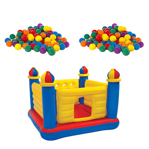 Intex 100-Pack Plastic Balls (2 Pack) w/ Inflatable Ball Pit Bouncer Ages 3-6