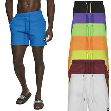 Urban Classics Block Swim Shorts Badehose Schwimmhose Strand Sommer Neon Beach