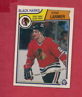 1983-84 OPC # 105 HAWKS STEVE LARMER ROOKIE NRMT-MT  CARD