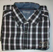 Calamar Black & Grey Tartan Checked Shirt - Medium - Box6472 D