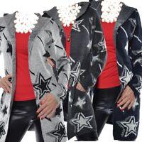 Strickjacke Cardigan Kapuze Damen Übergang  Strick Jacke Pullover 40 42 44 S M L