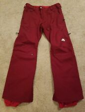 NIKE MEN SB RUSKIN SNOWBOARD PANTS Red RARE authentic 10k waterproof Medium