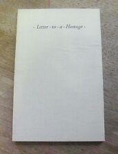 LETTER TO A HOSTAGE by Antoine de Saint-Exupery - 1st UK 1950 - little prince