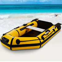 Goplus 2-Person 7.5FT Inflatable Dinghy Boat Fishing Tender Rafting Water Sports