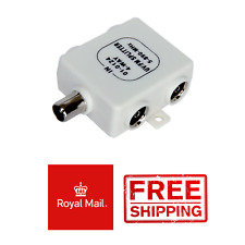 Compact 4 Way RF Splitter TV UV FM VHF Aerial 1 Input to 4 Out Coaxial Wideband