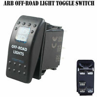 12V 20A Bar ARB Carling Rocker Toggle Switch Blue LED Car Boat OFF Road Light F7