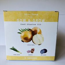Natures Blossom Onion Seed Starter Kit - Beginners Indoor Gardening Set to Grow