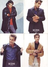 Set of 12 x advertising cards for fashion store REISS London menswear range 90's