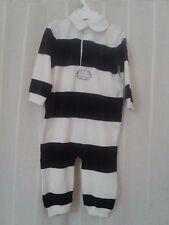 Nwt Polo Ralph Lauren Navy Blue & White Striped Velour One Piece Size 9M NWT!!!!