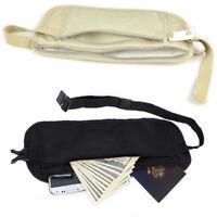 Travel Sport Pouch Bag Hidden Compact Security Money ID Waist Belt Holder Pocket