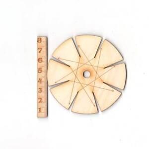Knüpfstern aus Holz für Freundschaftsbänder, Knüpfen, Basteln mit Kinder